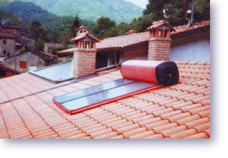 Thermosiphon Passive Solar Water Heater In The Eco Mart