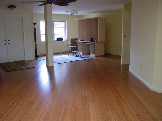 Eco mart inc floating bamboo floor installed picture for Bamboo flooring florida