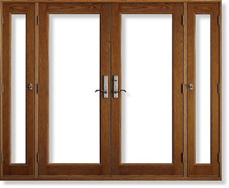 Hurricane impact doors side vented double hinged in the for Double hinged patio doors