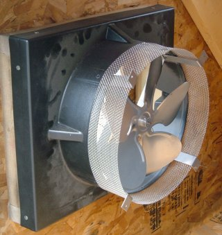 Solar Powered Attic Fan Gable Mount