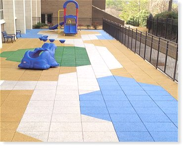 Playground Amp Roof Deck Tiles From Recycled Rubber Eco