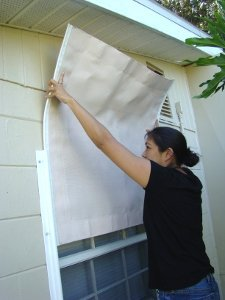 How to board up a window from the inside