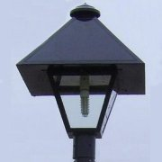 Solar LED Coach Light with Snow Cap